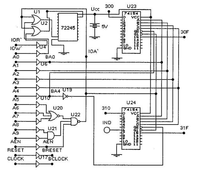 Схема устройства ввода-вывода